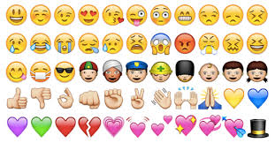 الأشكال التي تعبر عن المشاعر والأفكار Emoji