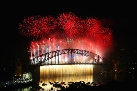 الألعاب النارية فوق كوبري ميناء سيدني باستراليا