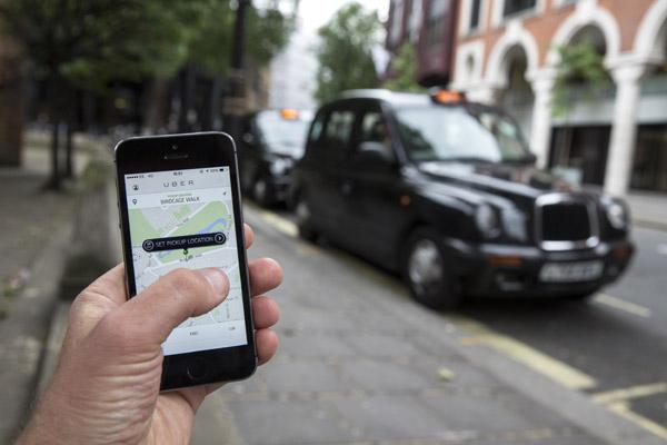 تطبيقات الموبايل تنافس التاكسي