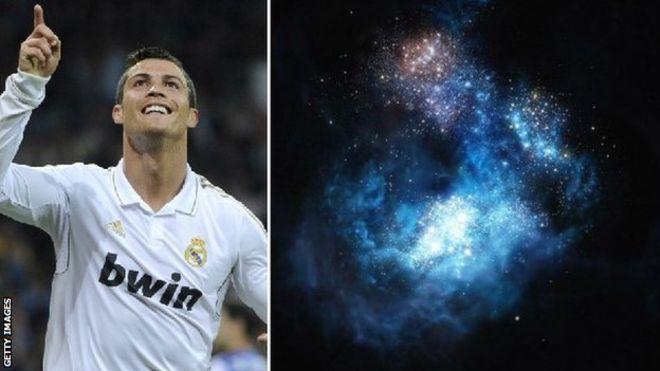 """سميت المجرة """"سي آر 7""""، وهي تمثل الأحرف الأولى من اسم رونالدو ورقم قميصه في ريال مدريد"""