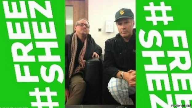 قضية شيز حظيت باهتمام كبير وأعلن الممثل الأمريكي ويل فيريل تضامنه معه وشارك في حملة للإفراج عنه