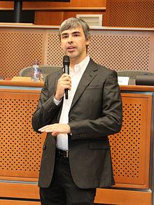 لاري بيج أحد مؤسسي شركة جوجل والرئيس السابق للشركة حتي 10 أغسطس 2015