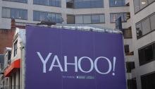 شعار شركة ياهو في العاصمة الأمريكية واشنطن