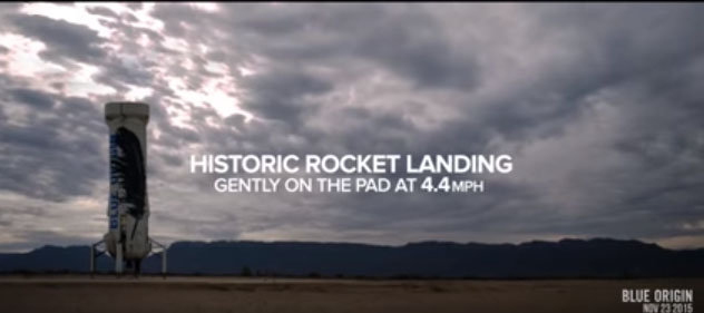 الهبوط التاريخي لصاروخ بلو أوريجن