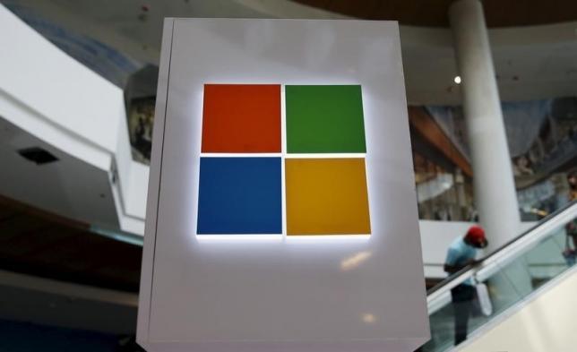 شعار مايكروسوفت يظهر عند الإعداد لمؤتمر عن ويندوز 10