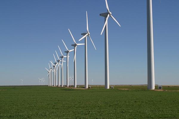 مزرعة من توربينات طاقة الرياح