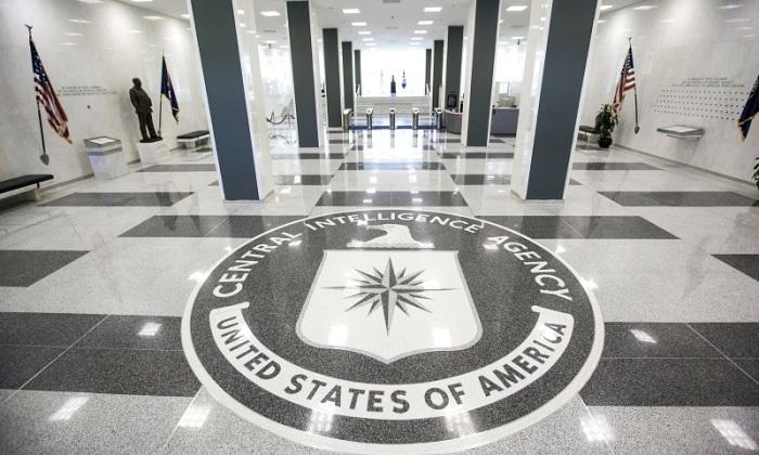 مدخل مبني وكالة المخابرات المركزية الأمريكية CIA