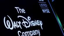 شاشة تعرض شعار شركة والت ديزني في بورصة نيويورك