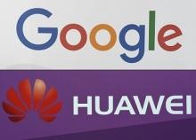 شعار شركتي جوجل و هواوي
