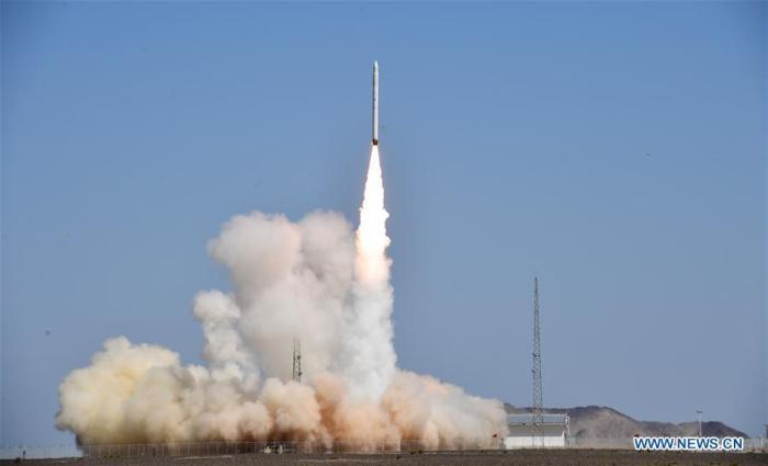 أنطلق صاروخ سمارت دراجون-1 من مركز جيوتشيوان لإطلاق الأقمار الصناعية شمال غرب الصين يوم السبت 17 أغسطس 2019