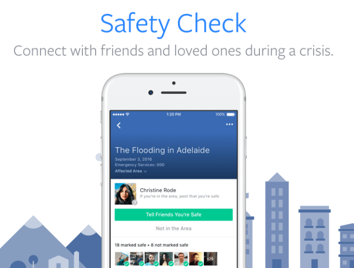 """خاصية فيسبوك """"اختبار السلامة - Safety Check"""" يساعد في الأطمئنان علي الأصدقاء والأقارب الذين يتواجدون في مناطق أزمات"""