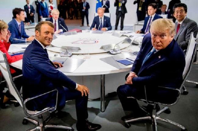 ترامب خلال أجتماعه مع مجموعة السبع دول الكبري
