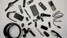 أدوات مختلفة تستخدم في تسجيل الصوت معروضة في سول يوم 26 أغسطس 2019