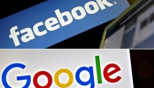 شعار شركتي جوجل وفيسبوك
