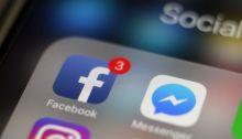 شعار تطبيق فيسبوك علي الموبايل