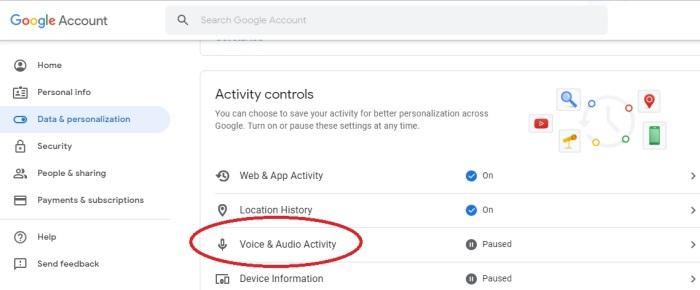 كيفية إيقاف خاصية (Voice & Audio Activity VAA) للتوقف عن تسجيل أوامرك لمساعد جوجل الصوتي