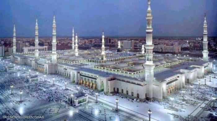 الحرم النبوي الشريف بالمدينة المنورة