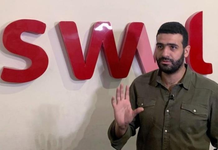 مصطفى قنديل الرئيس التنفيذي والشريك المؤسس لشركة سويفل المصرية خلال مقابلة مع رويترز في مكتبه يوم 12 سبتمبر 2019