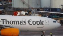 طائرة عليها شعار توماس كوك في مانشستر يوم الاثنين 23 سبتمبر 2019