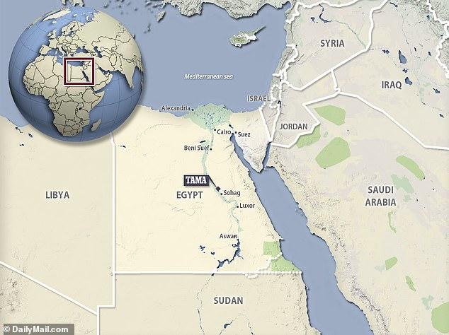 خريطة توضح مكان المعبد المفقود