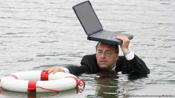 حماية الكومبيوتر المحمول من البلل شبه مستحيلة