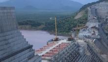 أعمال إنشاء في سد النهضة في إثيوبيا بصورة التقطت يوم 26 سبتمبر 2019.