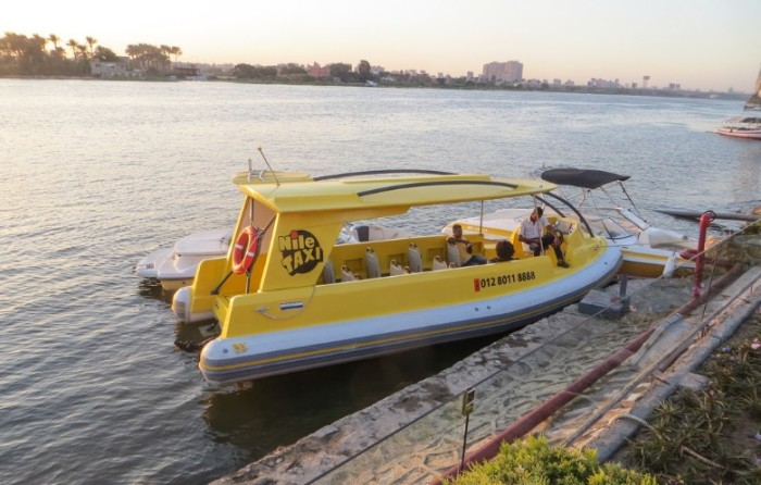 نهر النيل وسيلة للهروب من الأزدحام المروري .. استخدم تاكسي النيل