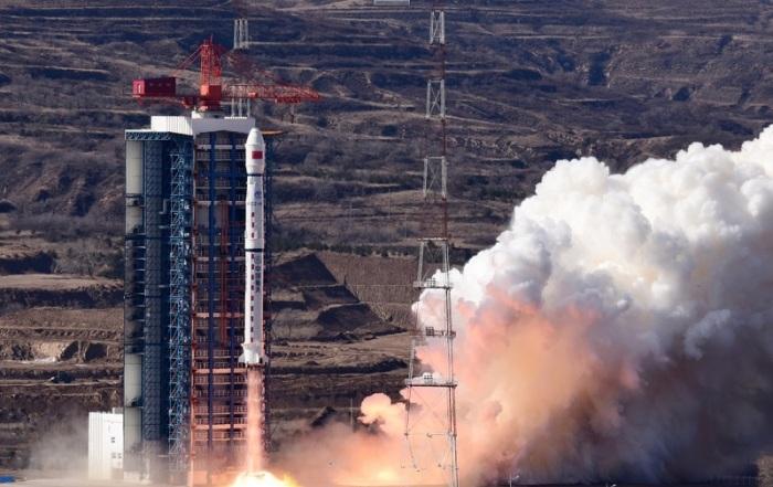 أنطلق صاروخ حاملا القمر الصناعي جاوفن-7 عالي الكفاءة من مركز تاييوان لإطلاق الأقمار الصناعية بشمال الصين يوم الأحد 3 نوفمبر 2019