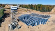 محطة الطاقة الشمسية لشركة هليوجين في مدينة لانكاستر بولاية كاليفورنيا
