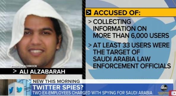 علي الزبارة الموظف السابق يشركة تويتر والمتهم بالتجسس لحساب السعودية