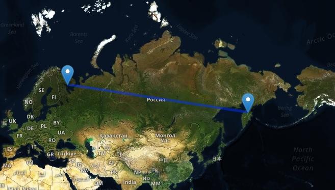 قالت وزارة الدفاع الروسية أن الصاروخ أطلق من شمال غرب روسيا قرب الحدود مع فنلندا وسقط في أقصي شرق البلاد