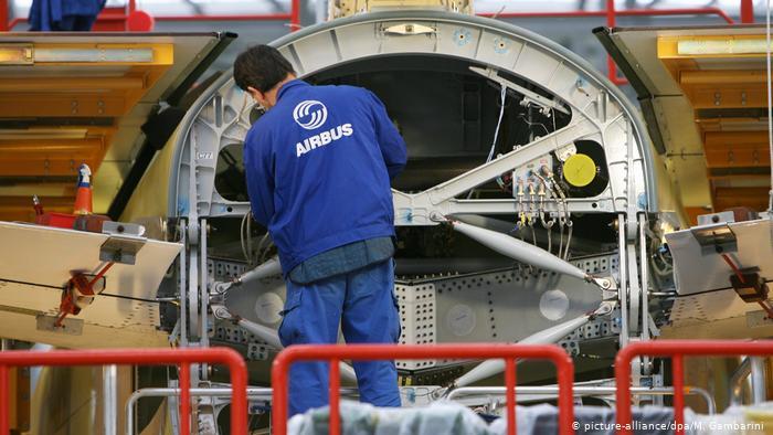 صورة من مصنع شركة أيرباص في مدينة هامبورج الألمانية