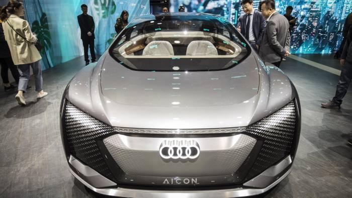 سيارة أودي الألمانية في معرض شنغهاي الدولي للسيارات 2019 في الصين