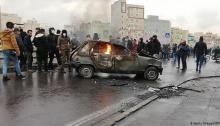 مشهد من احتجاجات الإيرانيين على رفع أسعار الوقود في نوفمبر 2019