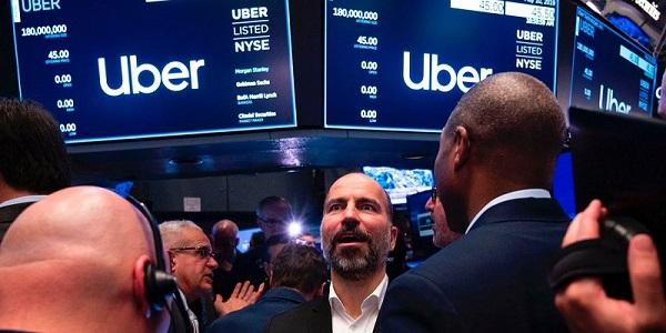 الطرح الأول لأسهم شركة أوبر في بورصة نيويورك