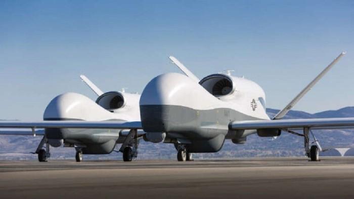 طائرات التجسس المسيرة من طراز MQ-4C Triton تستخدمها الولايات المتحدة لمراقبة نشاط الصواريخ من كوريا الشمالية