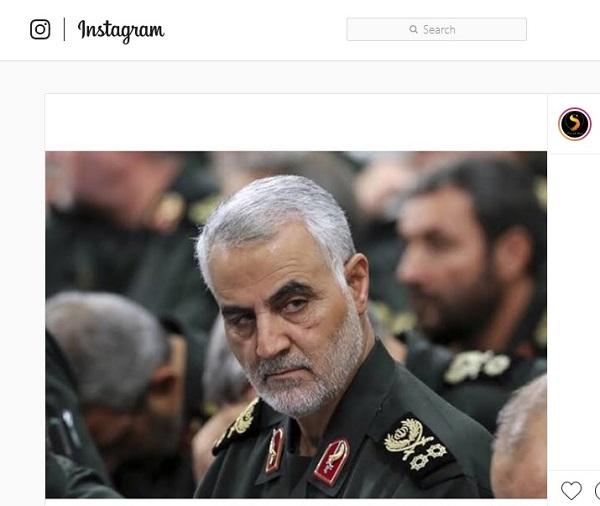 الجنرال قاسم سليماني كان له عشرات الآلاف من المتابعين علي إنستاجرام