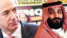 جيف بيزوس رئيس شركة أمازون وولي العهد السعودي الأمير محمد بن سلمان
