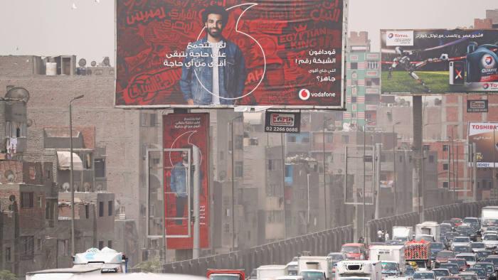 إعلانات الشوارع لشركة فودافون مصر