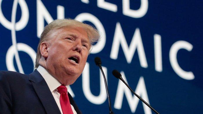 الرئيس الأمريكي ترامب يلقي كلمته في مؤتمر دافوس 2020