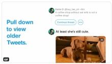 ربط التغريدة التي يقوم المستخدم بكتابتها مع التغريدات السابقة
