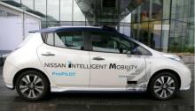 سيارة ذاتية القيادة من صنع نيسان في لندن