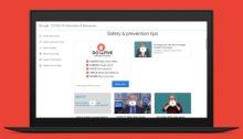 موقع جوجل الذي يحتوي علي معلومات بشأن الفحص والإرشادات المتعلقة بفيروس كورونا