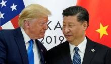 الرئيس الأمريكي دونالد ترامب ونظيره الصيني شي جين بينغ في أوساكا يوم 29 يونيو 2019