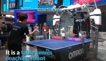 يمكن للروبوت إطلاق الكرة بسرعات مختلفة وفي اتجاهات عديدة بصورة تفوق قدرة البشر