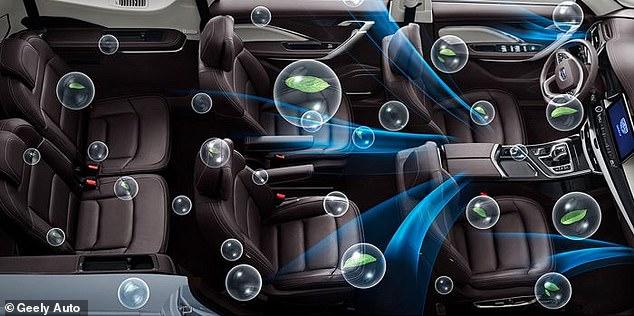 طوّرت شركة جيلي الصينية لتصنيع السيارات نظامًا جديدًا لتنقية الهواء يعد بأنه سيحمي الركاب من الفيروسات والبكتيريا بنفس فعالية القناع الطبي، كجزء من مشروع السيارة الصحية الجديد