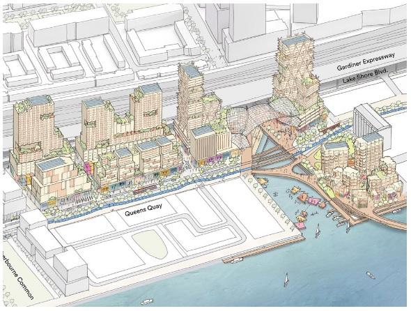 النصميم الهندسي لمدينة المستقبل في تورونتو  - كندا