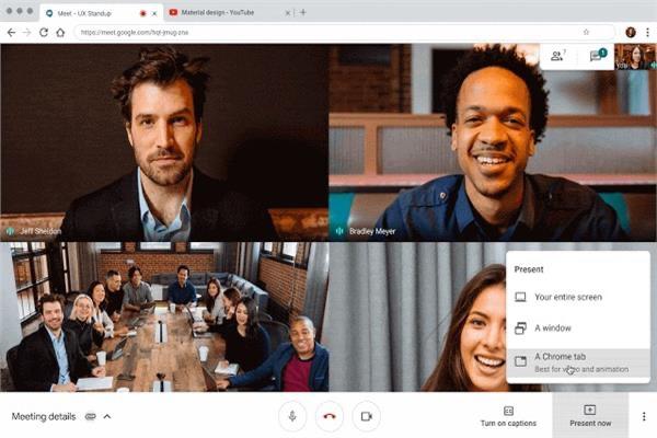 خدمة Google Meet لعقد مؤتمرات الفيديو عبر الانترنت تستطيع استضافة ١٠٠ مشارك