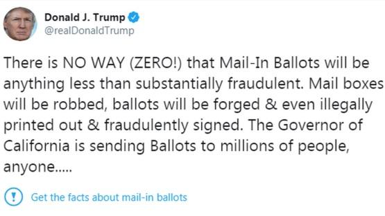 تغريدة ترامب وعلامة التحذير من المعلومات الموجودة بها من شركة تويتر أحدثت ثورة