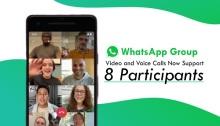 بإمكانك الآن علي واتساب إجراء محادثات صوتية أو فيديو لـ8 أشخاص
